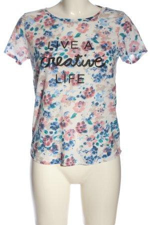 Stradivarius Camiseta estampado floral look casual