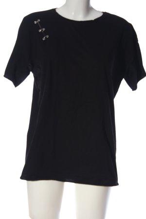 Stradivarius T-Shirt schwarz Casual-Look