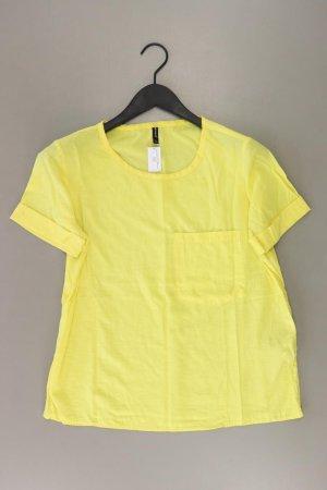 Stradivarius T-Shirt Größe L Kurzarm gelb aus Viskose
