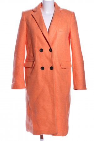 Stradivarius Wollmantel hellorange Business-Look