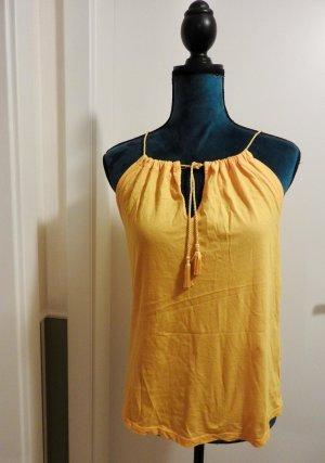Sisley Halter Top yellow cotton