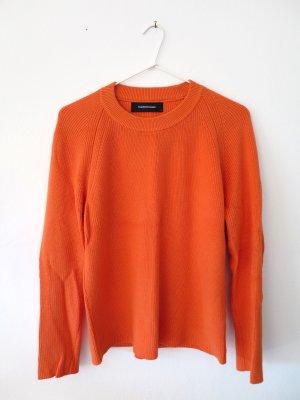 Peak performance Knitted Sweater neon orange cotton