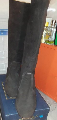 Botas con tacón marrón oscuro Cuero