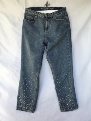 Noisy May Jeans a vita alta grigio ardesia Cotone