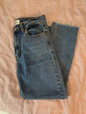 Only Pantalón de cintura alta azul