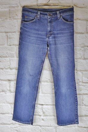 Straight Jeans Hose Mustang Größe W31 L30 38 Blau Blue Denim Washed Out Jeanshose Basic Boyfriend Klassisch