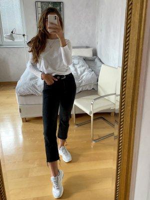 Zara Jeansy z prostymi nogawkami czarny