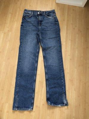 Pull & Bear Jeansy z prostymi nogawkami stalowy niebieski