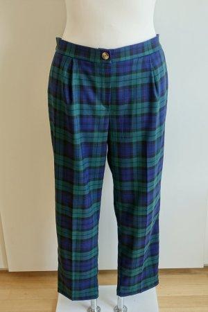 New Look Pantalone di lana blu scuro-verde bosco