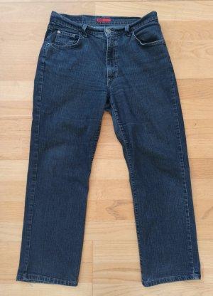 Angels Jeansy z prostymi nogawkami ciemnoniebieski