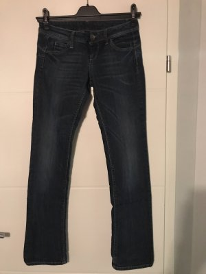 Benetton Jeans Low Rise Jeans dark blue