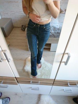 Straight-Leg Jeans Blau