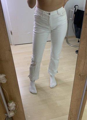 Tally Weijl Jeansy z prostymi nogawkami biały