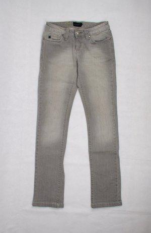 Blend She Jeans met rechte pijpen lichtgrijs-grijs Katoen
