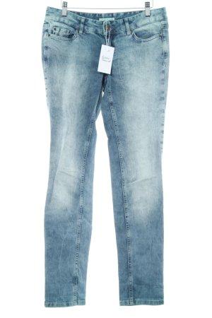 Straight-Leg Jeans türkis-grau Jeans-Optik