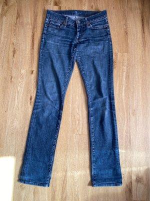 7 For All Mankind Jeansy z prostymi nogawkami stalowy niebieski Bawełna