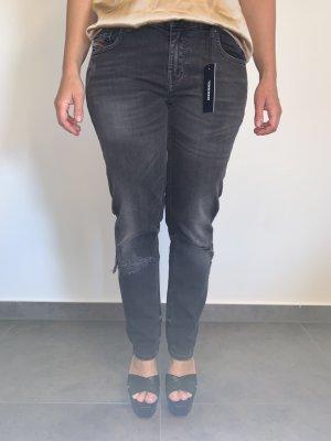Straight Leg Jeans von Diesel  Gr. W28 L34 grau