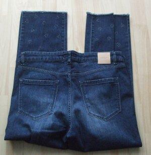 Marc Cain Jeansy z prostymi nogawkami niebieski