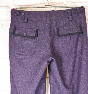Straight Stoffhose Hose Esprit Modell Angy Größe S 36 Lila Meliert Aubergine Wolle Wollhose Business Gerades Bein