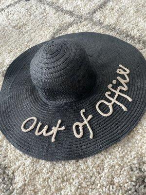 Pretty Little Thing Chapeau de soleil noir-crème
