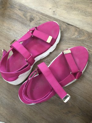 Stradivarius Beach Sandals magenta-white