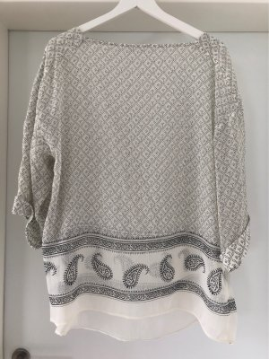 H&M Oversized Blouse natural white-anthracite