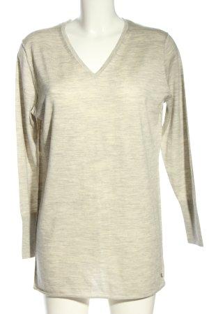 Strandfein V-Ausschnitt-Pullover