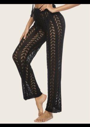 Wollen broek zwart