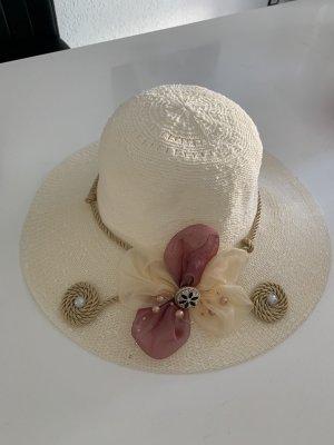 Sombrero de ala ancha blanco puro