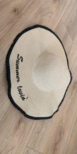 H&M Cappello parasole nero-beige chiaro
