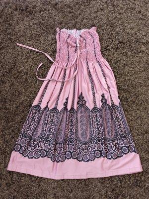 no name Beach Dress black-dusky pink