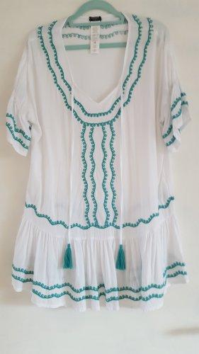 Calzedonia Beach Dress white-light blue viscose