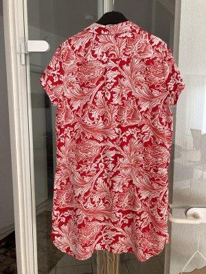 Cortefiel Vestido playero blanco-rojo