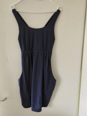 Sukienka plażowa piaskowy brąz-ciemnoniebieski