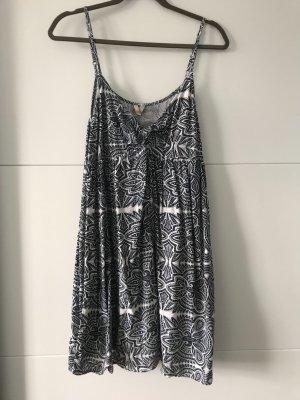 Roxy Sukienka plażowa biały-ciemnoniebieski Wiskoza
