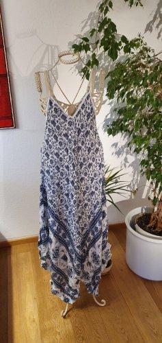 Sukienka plażowa biały-niebieski