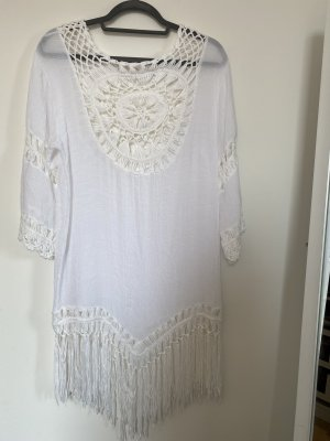 nicht angegeben Sukienka plażowa biały