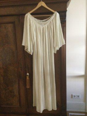 Antik Batic Robe de plage blanc cassé coton