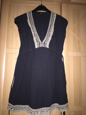 Robe de plage noir-bleu foncé tissu mixte