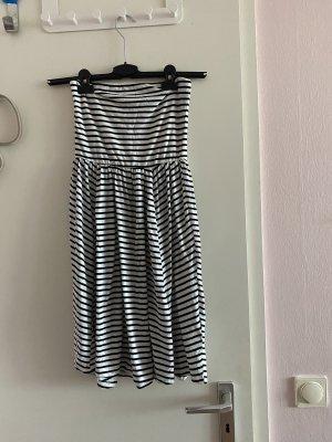 Esmara Vestido playero blanco-negro