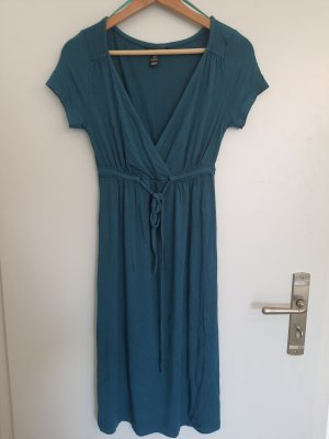 H&M Sukienka plażowa petrol-morski