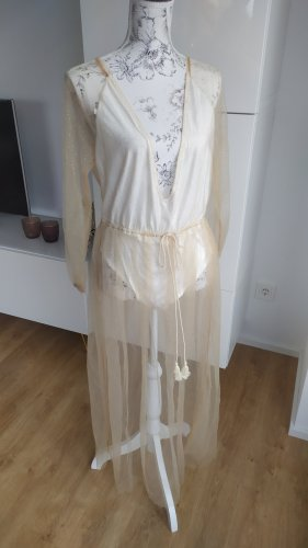 Strandkleid gold Glitzer mit Body Gr. XL neu  Stretch Body
