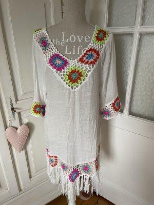 Wild Flower Sukienka boho biały