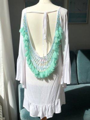 Strandkleid mit Bommeln/ Pom Poms  aus Bali