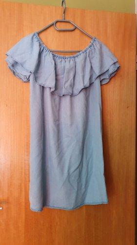Ohne Sukienka plażowa jasnoniebieski-stalowy niebieski