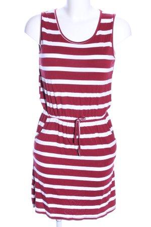 Vestito da spiaggia rosso-bianco motivo a righe stile casual