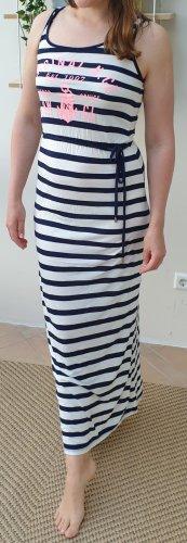 Gina Tricot Sukienka tuba biały-ciemnoniebieski