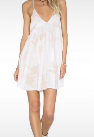 Free People Vestido playero blanco puro-nude