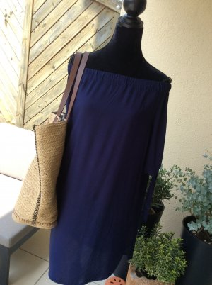Lascana Beachwear dark blue viscose