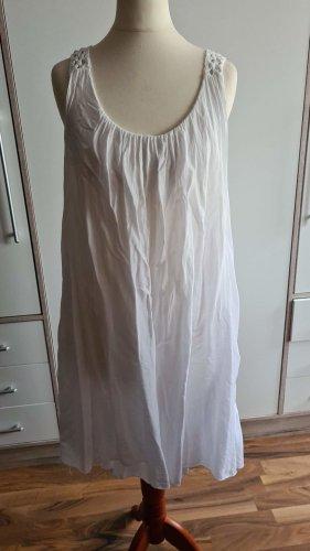 Strandkleid weiß mit strick